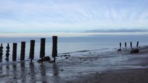 The beach at Colwyn Bay, taken by Shane Hackett.