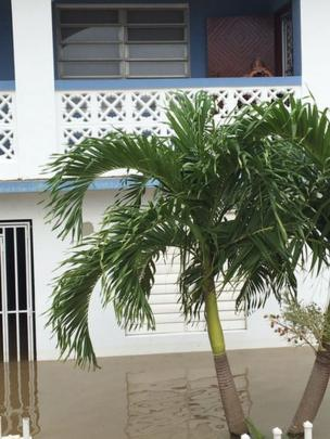 Medianía Alta, en Loíza, Puerto Rico, inundada.
