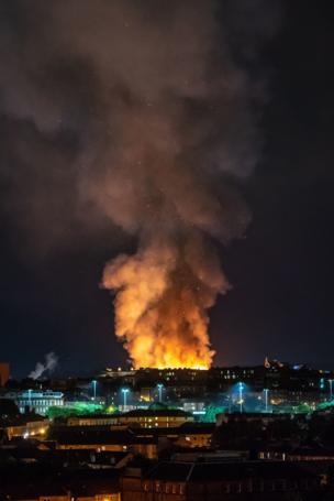 Mackintosh fire in Glasgow