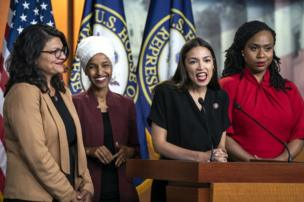 "The US House of Representatives voted to condemn President Donald Trump after, in a series of tweets in July, he said congresswomen Rashida Tlaib, Ilhan Omar, Alexandria Ocasio-Cortez and Ayanna Pressley ""originally came from countries whose governments are a complete and total catastrophe"" and should ""go back""."
