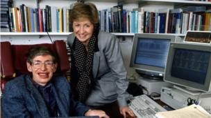 Hawking and Sue Lawley