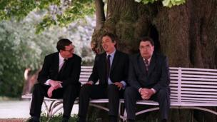 in_pictures David Trimble, Tony Blair and John Hume