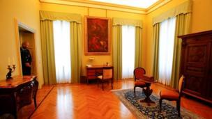 A hall inside Castel Gandolfo
