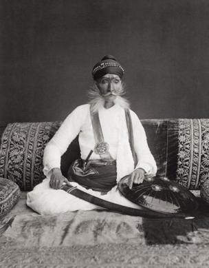 A portrait of H.H The Maharajah Sahib of Bundi