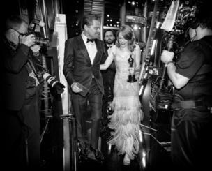ليوناردو دي كابريو والممثلة إيما ستون
