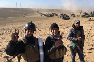 جنود عراقيون من لواء الرد السريع