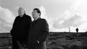 in_pictures John Hume and Ian Paisley on Rathlin Island in 1992 when wind turbines were first installed to generate electricity for the island