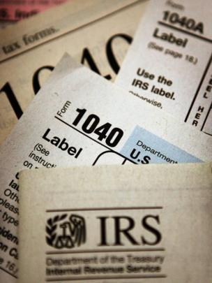 Formato 1040 para declarar impuestos.