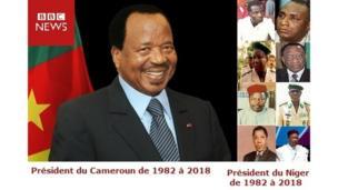 Huit présidents nigériens se sont succédés de 1982 à 2018. Pendant ce temps, au Cameroun, Paul Biya est toujours en poste.