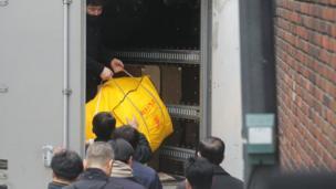 朴槿惠工作人员在准备搬离总统府
