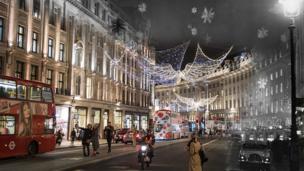 لندن میں برف باری