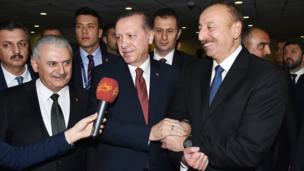 Binali Yıldırım, İlham Əliyev, Recep Tayyip Erdoğan