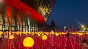 Poppies memorial at Cardiff Bay, by Mark Kelly