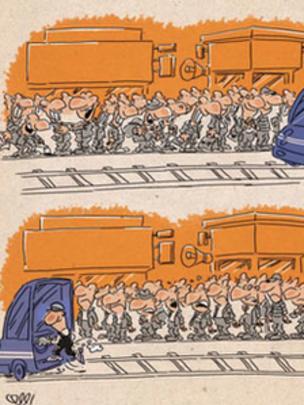 کارتون محمدرضا ثقفی. شرق