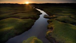 Sunrise at Ogmore-by-Sea, in Vale of Glamorgan