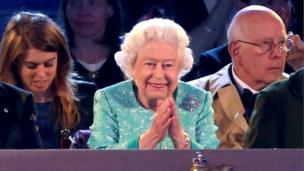 The Queen smiling