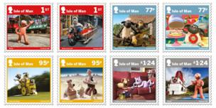 A range of stamps released to celebrate the 40th anniversary of Aardman