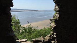 Deborah Thomas from Swansea took this shot peeping from Llansteffan Castle on a bright sunny day