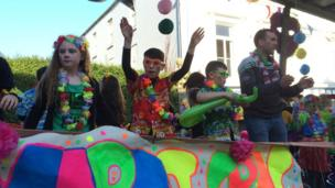 There was a Mardi Gras feel to the proceedings in Enniskillen