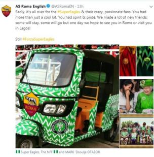 Àwòrán alatilẹyin Super Eagles
