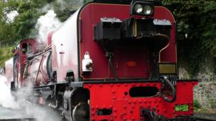 It was full steam ahead for Paul Thompson during his visit to the Welsh Highland Railway in Caernarfon
