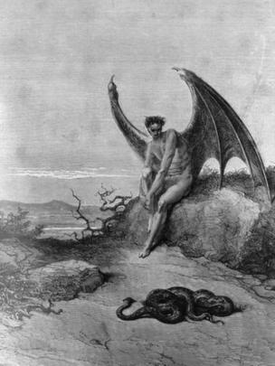 Dibujo de Lucifer.
