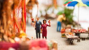 Lam Tsuen's wishing tree in miniature artwork