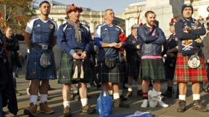 Scotland football fans join commemorations in London
