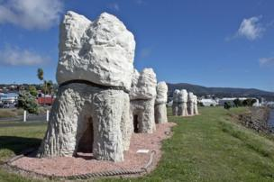 Harbour Mouth Molars at Dunedin in New Zealand