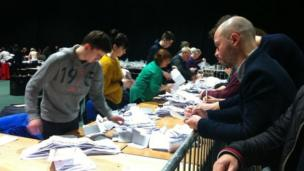 Votes being counted