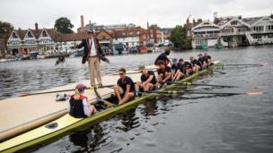 Crew prepares to race at regatta