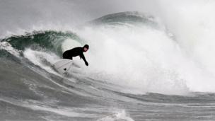 Surfers in Portrush