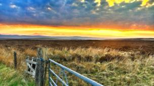 Snowdonia sunset taken from Denbigh Moors