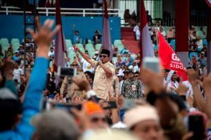 Prabowo berkampanye di Sidoarjo, Jawa Timur, 31 Maret 2019 lalu