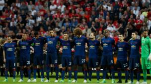 Manchester United before the match