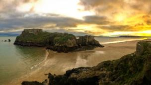 Maxwell Randells was on a short winter walk through Tenby when he captured this view of St Catherine's Island overlooking Castle Beach.