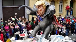 Mainz float mocking Donald Trump