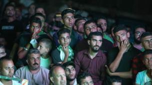 مشجعون من غزة