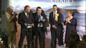 Liam McArthur of the Liberal Democrats held his Orkney seat
