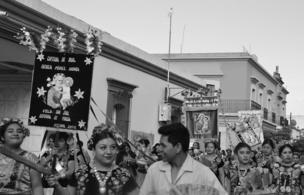 A parade in Oaxaca, Mexico.