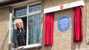 Brian May unveils Freddie Mercury plaque