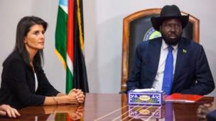 L'ambassadrice des Etats-Unis à l'ONU, Nikki Haley, s'était rendu cette semaine au Soudan du Sud et a poursuivi son séjour vers Goma puis Kinshasa. ou elle s'est prononcé sur la tenue des élections.
