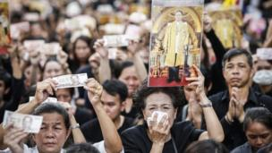 Thai people mourn the death of King Bhumibol Adulyadej