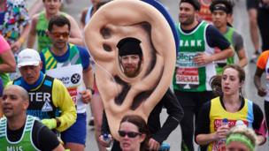 A man dressed as an ear