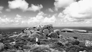 The top of Dinas mountain in Pembrokeshire