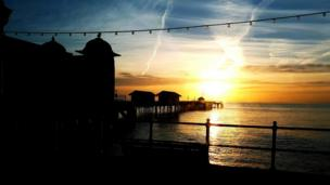 Penarth Pier at sunrise