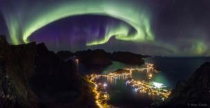 Aurora boreal sobre Lofoten / Imagen de Alex Conu