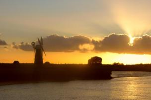 Windmill on the banks of the River Bure