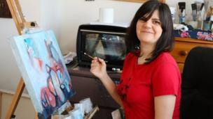 Jasmine Farrow painting