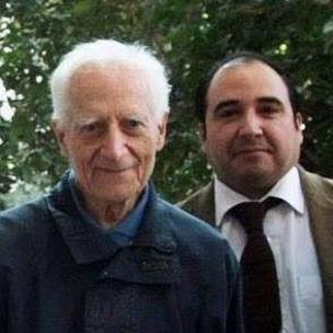 Osvaldo Aravena con José Aldunate.